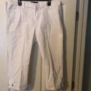 White Capri Denim pants